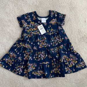 Hanna Andersson Printed Twirl dress, 80 (18-24m)